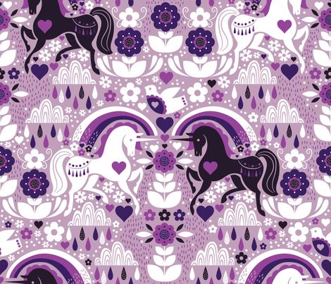 Swedish Candy Garden- Grape fabric by cynthiafrenette on Spoonflower - custom fabric