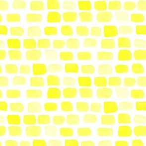 Lemon Yellow Sun Summer spots watercolor || Abstract dots stones brick rock wall _ Miss Chiff Designs