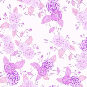 Orient Roses Chinoserie Lilac
