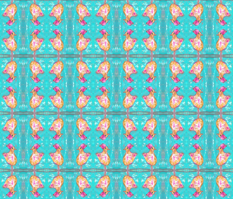 Windy Chicken fabric by peaceofpi on Spoonflower - custom fabric