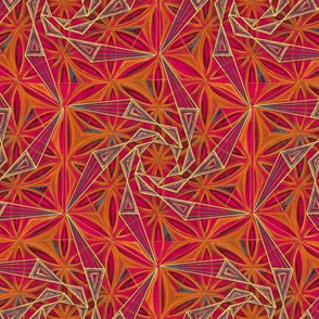 Flower of Life Kaleidoscope Hand Drawing Pattern