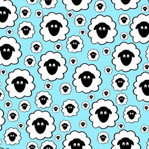 Nursery Rhyme Sheep - Pale Blue