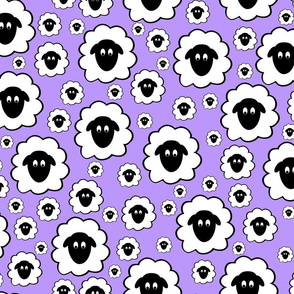 Nursery Rhyme Sheep - Pale Purple