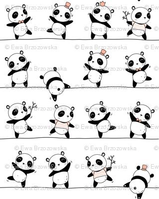 Pandaline - cute scandinavian panda pattern