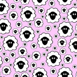 Nursery Rhyme Sheep - Pale Pink