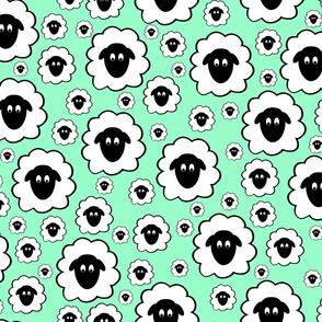 Nursery Rhyme Sheep - Pale Green