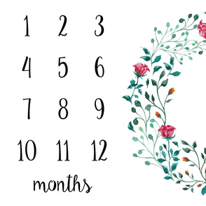 Milestone Blanket Large Wreath With Roses