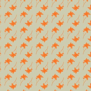 Orange Lily on Coffee Background