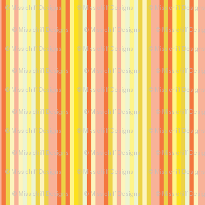 Citrus Fruit Candy Stripe || Pin stripe pinstripe Coral Peach Orange Lemon Yellow Summer _ Miss Chiff Designs