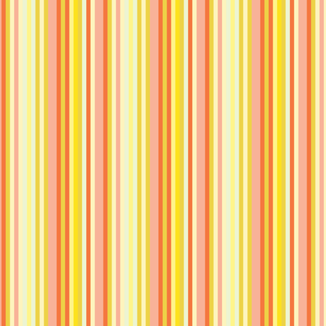 17-12S Citrus Fruit Candy Stripe || Pin stripe pinstripe Coral Peach Orange Lemon Yellow Summer _ Miss Chiff Designs fabric by misschiffdesigns on Spoonflower - custom fabric