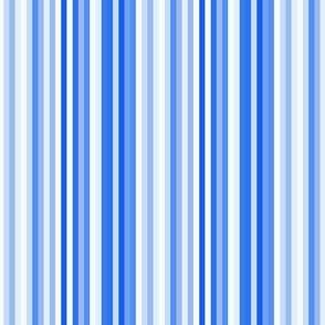 Blue bike stripe || Sky indigo pin stripe