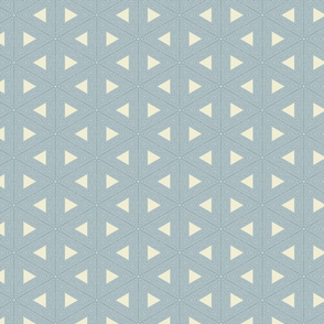 Stitch Triangles - M+M Slate  by Friztin