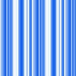 Nautical Blue Indigo Bike Stripe|| pinstripe royal sky summer  _ Miss Chiff Designs