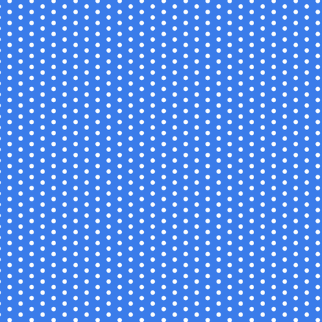 17-12N Tiny White Polka Dot on Royal Blue || Summer Bicycle Bike _ Miss Chiff Designs fabric by misschiffdesigns on Spoonflower - custom fabric