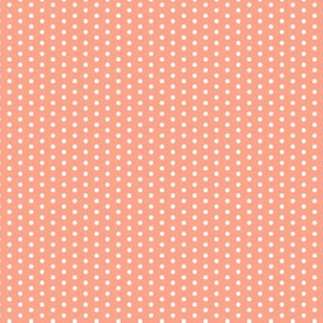 17-12L Coral Tiny Polka Dot || Peach orange summer fruit _ Miss Chiff Designs