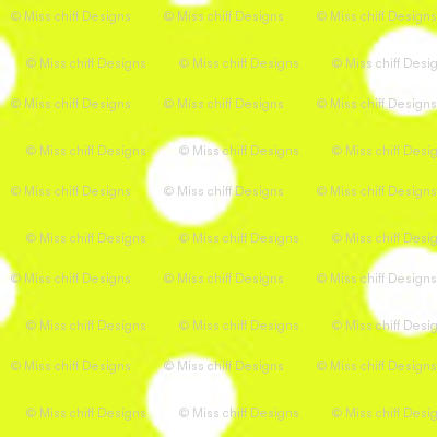 Lime Green Yellow Tiny Polka Dot    Summer spots chartreuse _ Miss Chiff Designs