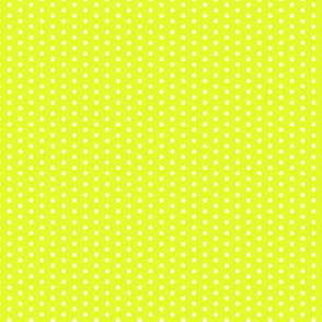 Lime Green Yellow Tiny Polka Dot || Summer spots chartreuse _ Miss Chiff Designs