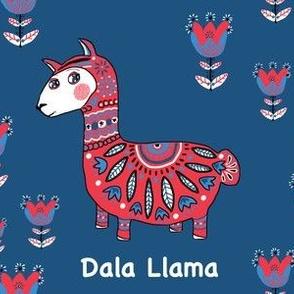 Dala Llama, large scale, red white & blue