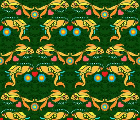 stencil goldfish fabric by hannafate on Spoonflower - custom fabric