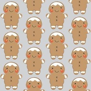 medium gingerbread men on grey