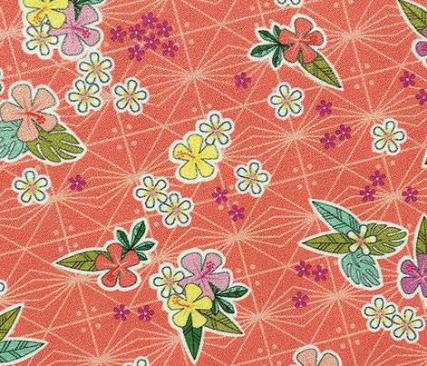 Kihapai* (Space Fruit) || flowers flower floral garden plumeria hibiscus tropical Polynesian Hawaii Hawaiian leaves nature tribal geometric diamonds living coral