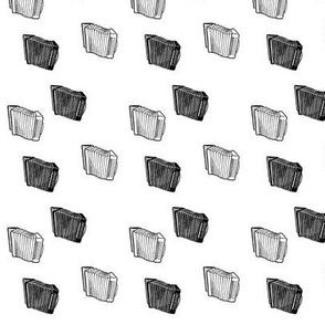 accordion monochrome