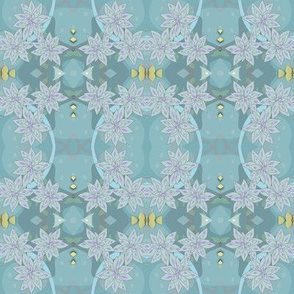 Blue and Grey Flower Power Pattern