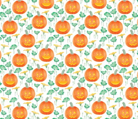 halloween-pumpkin fabric by y_me_it's_me on Spoonflower - custom fabric