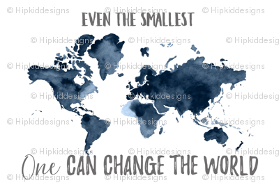 Even the Smallest One Can Change the World Map Baby Blanket