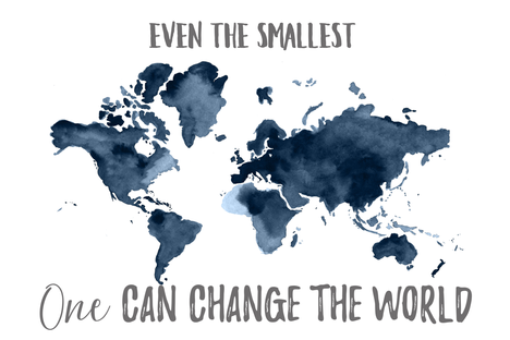 Even the Smallest One Can Change the World Map Baby Blanket fabric by hipkiddesigns on Spoonflower - custom fabric