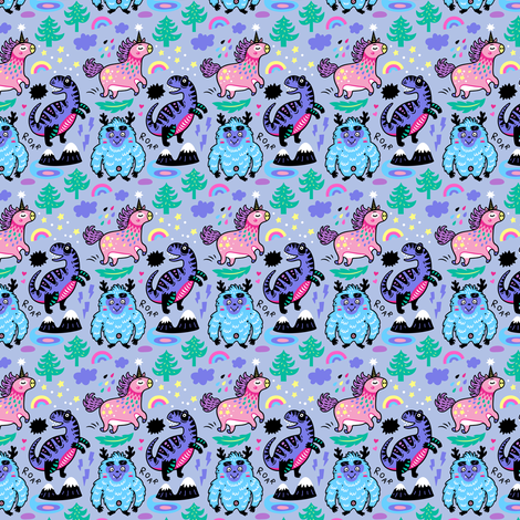Magical wishes small size fabric by penguinhouse on Spoonflower - custom fabric