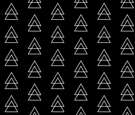 All lined up / black fabric by wilderandbean on Spoonflower - custom fabric