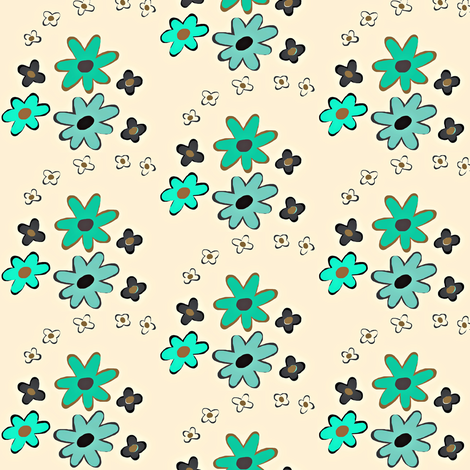 Not your Average Wall Flowers fabric by franbail on Spoonflower - custom fabric