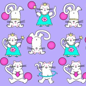 Silly Cats / Polka-Dots  /  purple