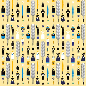 Swedish Folk Pattern Light Yellow