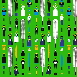 Swedish Folk Pattern Green
