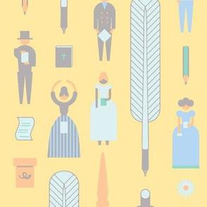 Swedish Folk Pattern Pastel Yellow