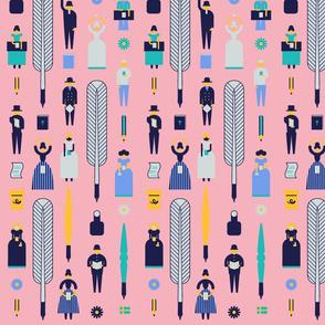 Swedish Folk Pattern Pink