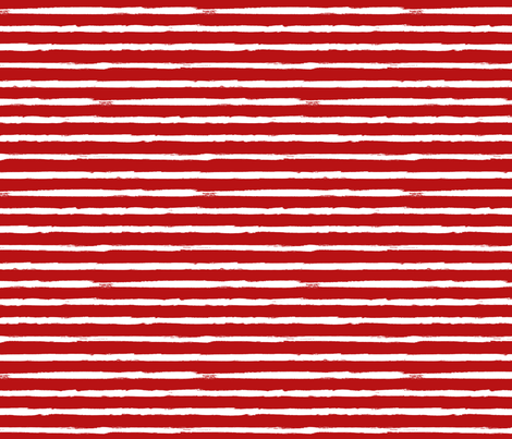 White Painted Stripes on Red (Grunge Vintage Distressed 4th of July American Flag Stripes) fabric by sweeterthanhoney on Spoonflower - custom fabric