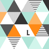 Letter L Initial Triangle Wholecloth