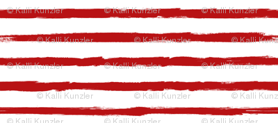 Painted Red Stripes (Grunge Vintage Distressed 4th of July American Flag Stripes)