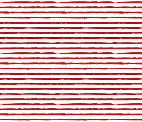 Painted Red Stripes (Grunge Vintage Distressed 4th of July American Flag Stripes) fabric by sweeterthanhoney on Spoonflower - custom fabric