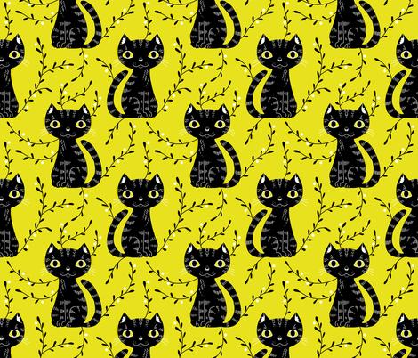citrocat fabric by gaiamarfurt on Spoonflower - custom fabric