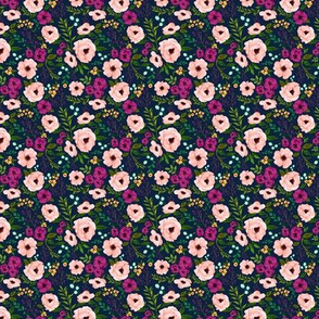 MINI Josie Meadow Floral on Navy