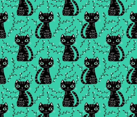 citrocat2 fabric by gaiamarfurt on Spoonflower - custom fabric
