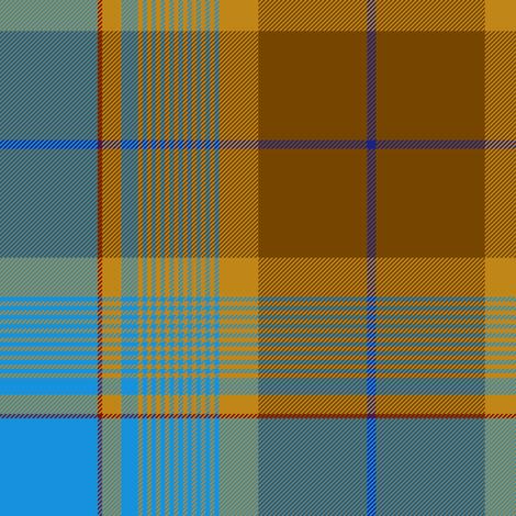 "Allen hunting / Ayrshire Thomson tartan, 10"" fabric by weavingmajor on Spoonflower - custom fabric"