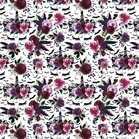 "1.5"" Halloween Unicorns small fabric by lil'faye on Spoonflower - custom fabric"