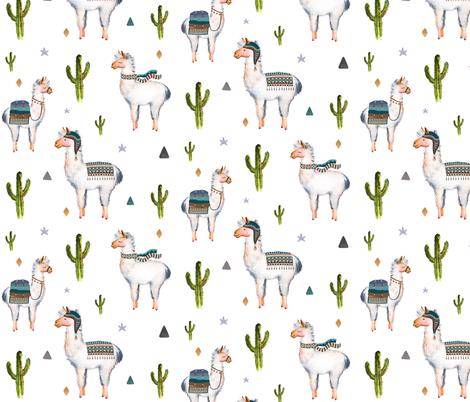 """8"""" Boys Aztec Llama fabric by shopcabin on Spoonflower - custom fabric"""