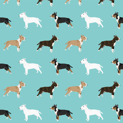 Bull Terrier variety coat colors dog breed fabric by pet friendly fabric by petfriendly on Spoonflower - custom fabric