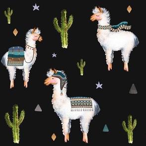 "8"" Boys Aztec Llama / Black"